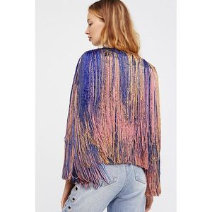 Free People RARE Tinsel Town Tassel Coat NEW